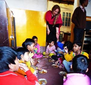 10 eating on floor with Vijali 2