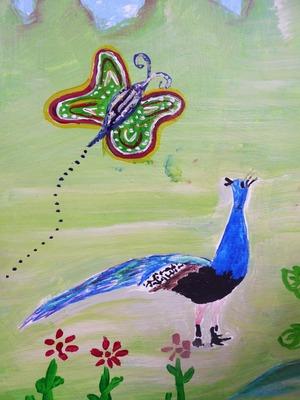 21 mural peacock