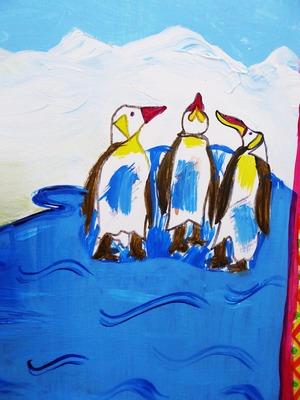 23 mural penguins