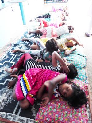 7 sleeping children