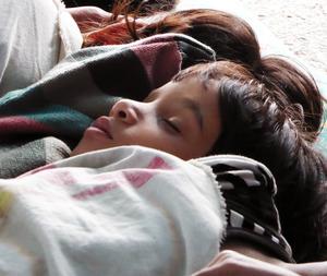 8 sleeping child