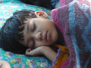 9 sleeping boy