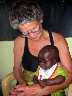 Catherine with village baby