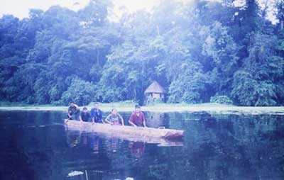 Dugout canoe for the lagoon